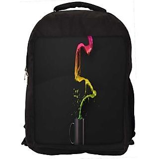 Snoogg Colorful Water Digitally Printed Laptop Backpack