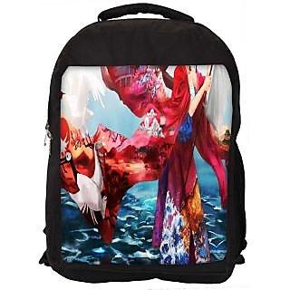 Snoogg Kisuki Digitally Printed Laptop Backpack
