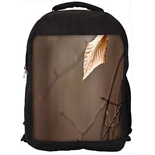 Snoogg Dying Leaf Digitally Printed Laptop Backpack