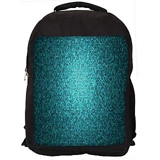 Snoogg Green Pattern Design Digitally Printed Laptop Backpack