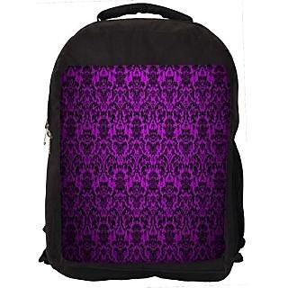 Snoogg Dark Pink Pattern Design Digitally Printed Laptop Backpack