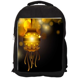 Snoogg Greeting Card For Diwali Celebration In India Digitally Printed Laptop Backpack