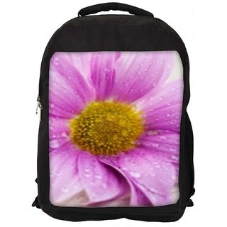 Snoogg Simple Flower Digitally Printed Laptop Backpack
