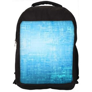 Snoogg Blue Graphic Digitally Printed Laptop Backpack