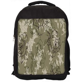 Snoogg Abstract Rose Art Digitally Printed Laptop Backpack