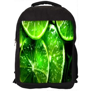 Snoogg Green Lemon Digitally Printed Laptop Backpack