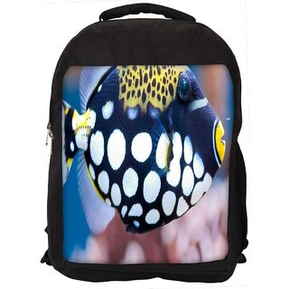 Snoogg Fish Animal Digitally Printed Laptop Backpack