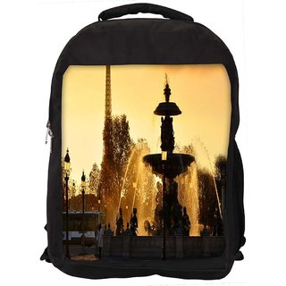 Snoogg Waterfall Pond Digitally Printed Laptop Backpack