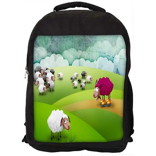 Snoogg Crazy Sheep Digitally Printed Laptop Backpack