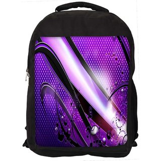 Snoogg Abstract Purple Glossy Design Digitally Printed Laptop Backpack