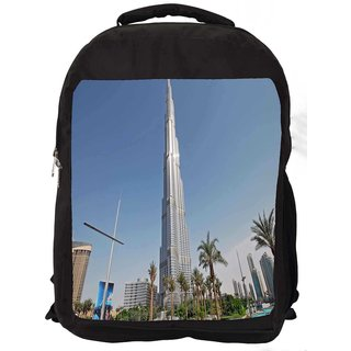 Snoogg Tallest Building Digitally Printed Laptop Backpack