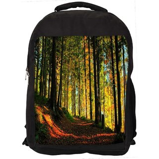 Snoogg Blossom Forest Digitally Printed Laptop Backpack