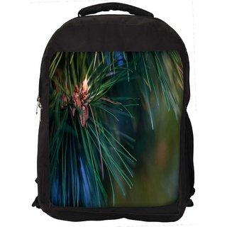 Snoogg Christmas Tree Branch Digitally Printed Laptop Backpack