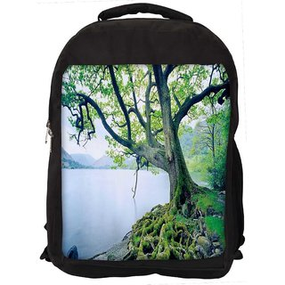 Snoogg Frozen Tree Digitally Printed Laptop Backpack