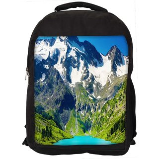 Snoogg Snow On Mountain Digitally Printed Laptop Backpack