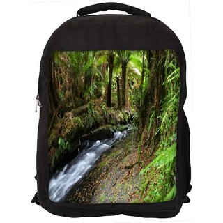 Snoogg Lake In Jungle Digitally Printed Laptop Backpack