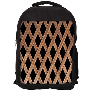 Snoogg Wood Cage Digitally Printed Laptop Backpack