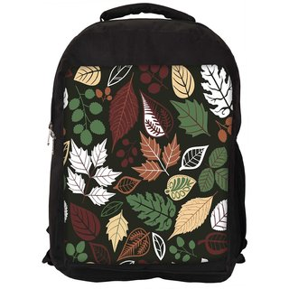 Snoogg Seamless Pattern With Leaf Copy That Square To The Side And Youll Get Seaml Digitally Printed Laptop Backpack