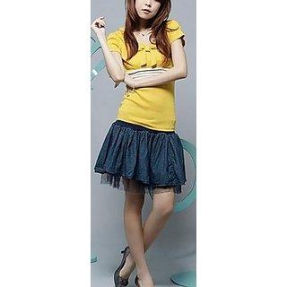 Studio En Vogue Gauze Denim Skirt