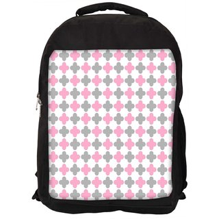 Snoogg Abstract Design White Pattern Digitally Printed Laptop Backpack