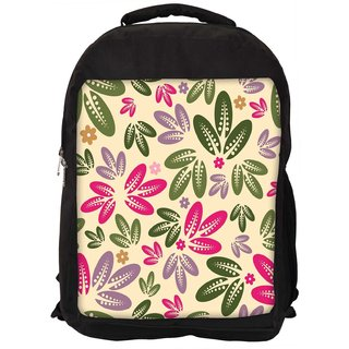 Snoogg Multicolor Leaves Digitally Printed Laptop Backpack