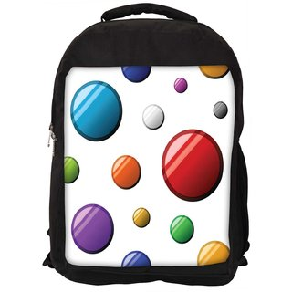 Snoogg Colorful Bubbles Digitally Printed Laptop Backpack