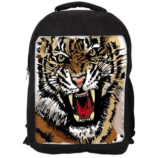 Snoogg Sketch Of Tiger Vector Illustration Designer Laptop Backpacks