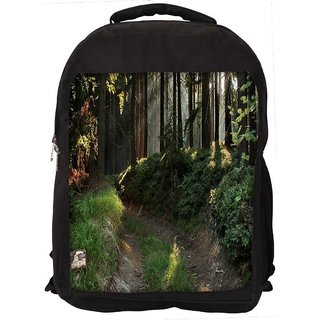 Snoogg No Way In Forest Digitally Printed Laptop Backpack