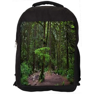 Snoogg Tall Trees Digitally Printed Laptop Backpack