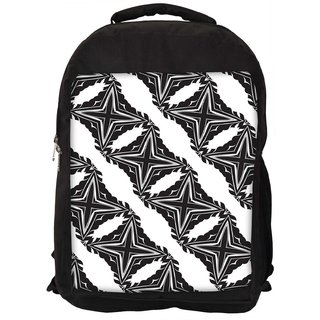 Snoogg Grey Stars Digitally Printed Laptop Backpack