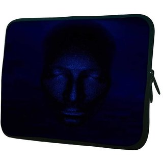 Snoogg Face 2628 10.2 Inch Soft Laptop Sleeve