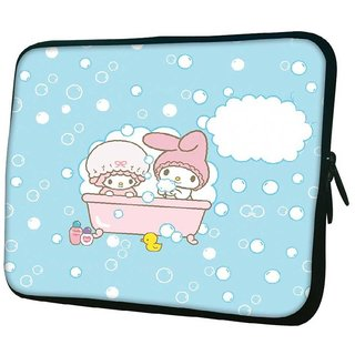 Snoogg Cute Baby Shower Designer Protective 10.2 Inch Soft Laptop Sleeve