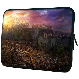 Snoogg Destroyed City 10.2 Inch Soft Laptop Sleeve