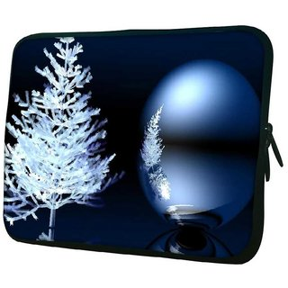 Snoogg Merry Christmas 10.2 Inch Soft Laptop Sleeve