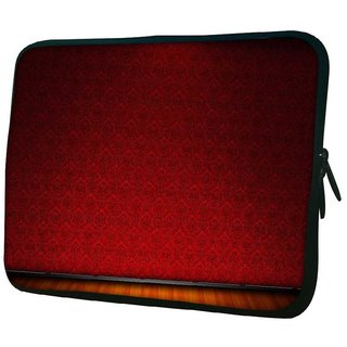 Snoogg Red Wall Patter Design 10.2 Inch Soft Laptop Sleeve