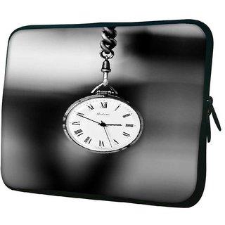 Snoogg Vintage Pocket Clock Designer Protective 10.2 Inch Soft Laptop Sleeve
