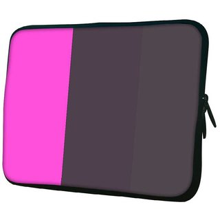 Snoogg Multicolor Pattern 10.2 Inch Soft Laptop Sleeve