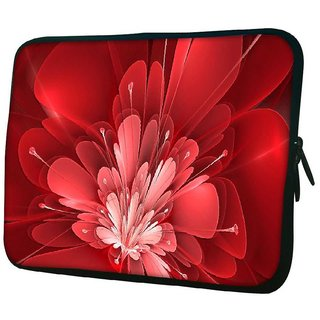 Snoogg Fractal Flower Digital Art 10.2 Inch Soft Laptop Sleeve