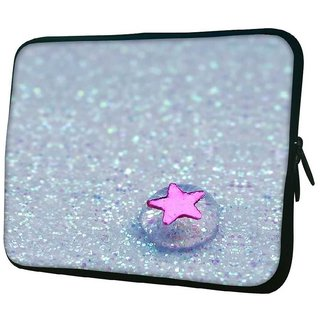 Snoogg Starfish Jelly Designer Protective 10.2 Inch Soft Laptop Sleeve