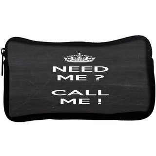 Snoogg Need Me call mePoly Canvas  Multi Utility Travel Pouch