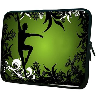 Snoogg Ballet Dancer Designer Protective 10.2 Inch Soft Laptop Sleeve