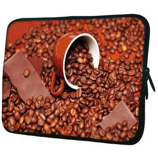 Snoogg Chocolate Coffee 10.2 Inch Soft Laptop Sleeve