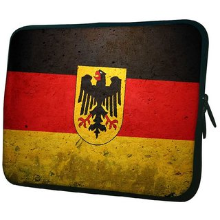 Snoogg German Flag 10.2 Inch Soft Laptop Sleeve