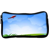 Snoogg  An Airplane In The Sky Vecto Poly Canvas  Multi Utility Travel Pouch