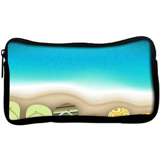 Snoogg  abstract summer backgroundPoly Canvas  Multi Utility Travel Pouch