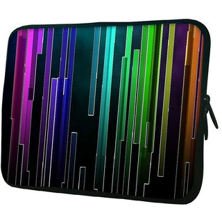 Snoogg Multicolor Rays 10.2 Inch Soft Laptop Sleeve
