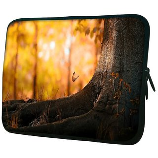 Snoogg Butterfly Under The Tree 10.2 Inch Soft Laptop Sleeve