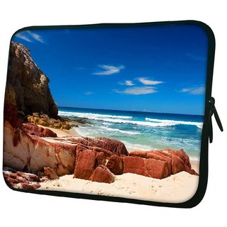 Snoogg Hot Sunny Beach 10.2 Inch Soft Laptop Sleeve