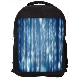 adf865b1703a Snoogg Lite Blue Bubbles Digitally Printed Laptop Backpack