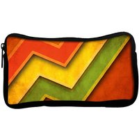Snoogg Red Yellow Green Poly Canvas  Multi Utility Travel Pouch